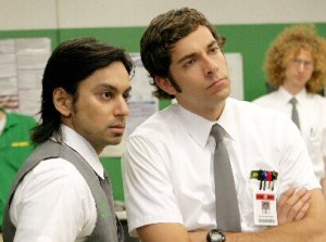 Vik Sahay (l) with Zachary Levi star in NBC's 'Chuck'