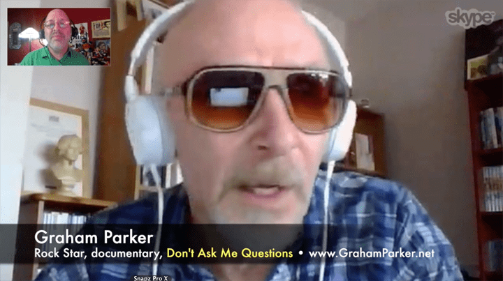 Graham Parker, rock star, Don't Ask Me Questions, Mr. Media Interviews