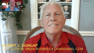 "Today's Guest: ""Chainsaw"" Albert J. Dunlap, author, Mean Business: How I Save Bad Companies and Make Good Companies Great   Watch this exclusive Mr. Media interview with ""Chainsaw"" Albert J...."