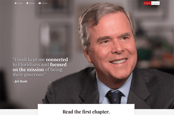 Jeb Bush ebook, e-book, e-mail to the Florida governor, Mr. Media interviews