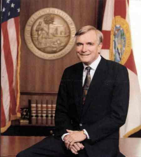 Lawton Chiles, Governor Florida, official portrait, Mr. Media Interviews
