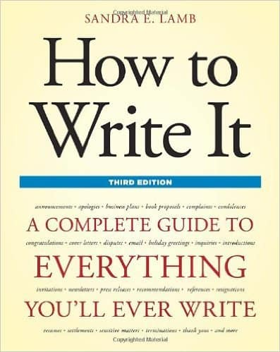 How to Write It by Sandra E. Lamb, Mr. Media Interviews