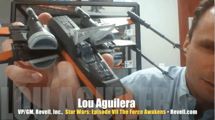 Lou Aguilera, VP/GM, Revell Inc., X-Wing Fighter scale model from Star Wars: Episode VII The Force Awakens by Revell, Mr. Media Interviews