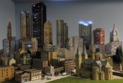 City Model with office lights