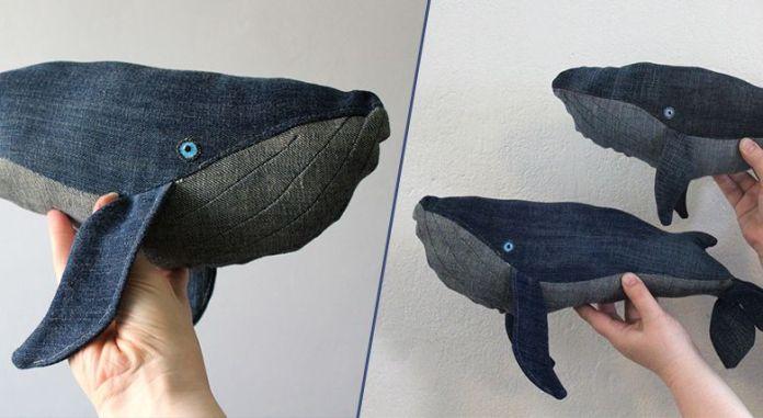 ne jetez pas vos vieux jeans faites en des baleines. Black Bedroom Furniture Sets. Home Design Ideas