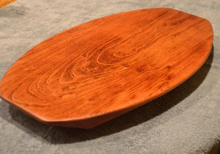 "Surfboard #14-06. Commissioned piece. Jatoba. 12"" x 19"" x 1-1/4""."