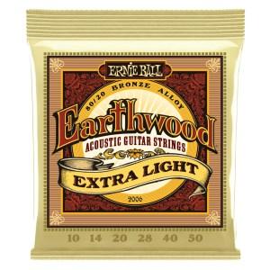 ERNIE BALL EARTHWOOD EXTRA LIGHT 80/20 BRONZE 2006