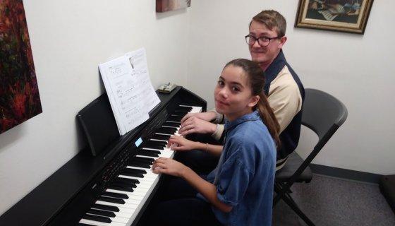 Piano Lesson with Hunter