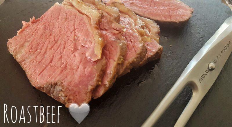 Perfektes Roastbeef, zart rosa mit leckerer Senfkruste