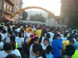 Crowd at the start of the 15K Race