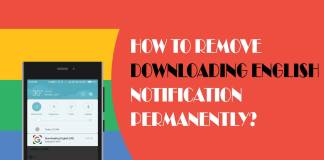 Remove downloading English notification