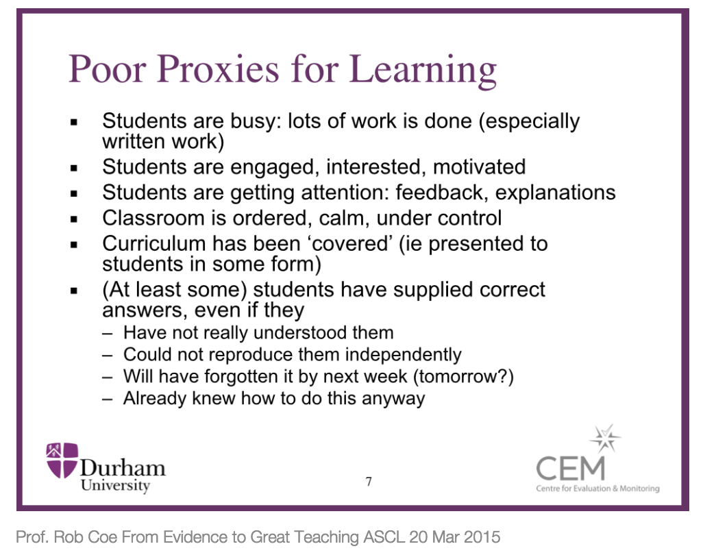 Lesson Observations For Genuine Improvement