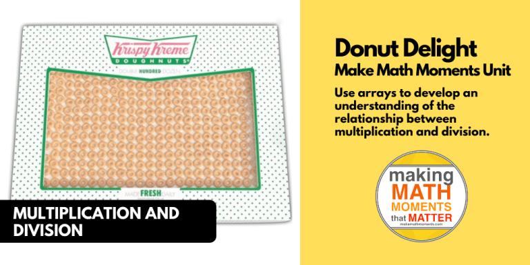 Donut Delight 3 act math task