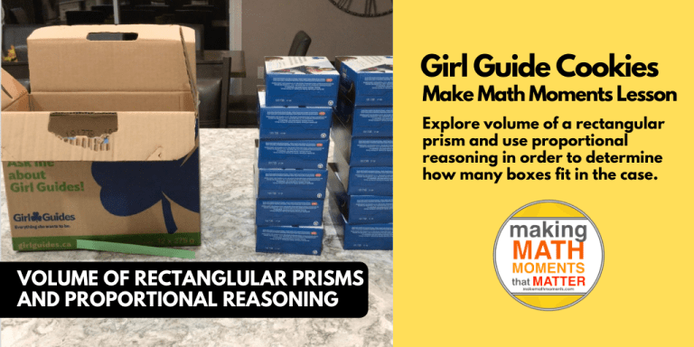 Girl Guide Cookies - Real World Math Problem Volume of a Prism