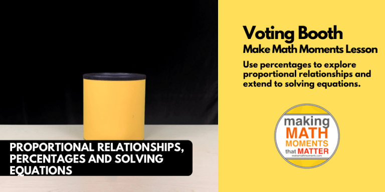 Voting Booth - Real World Math Lesson Percentage Ratios Probability