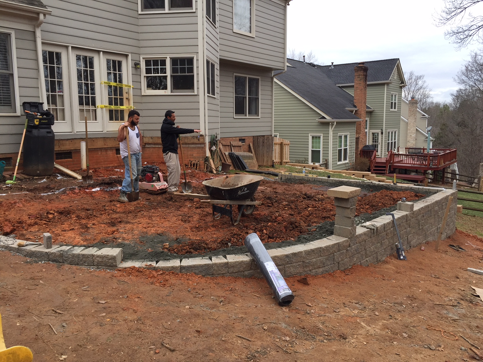 Finishing The Retaining Wall