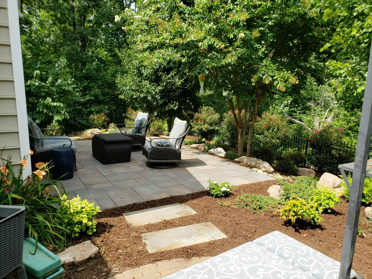 paver patio and fire pit mr outdoor living