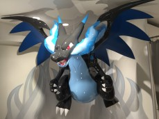 My man, Mega Charizard X, hanging from the ceiling