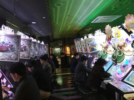 An arcade with Puyo!