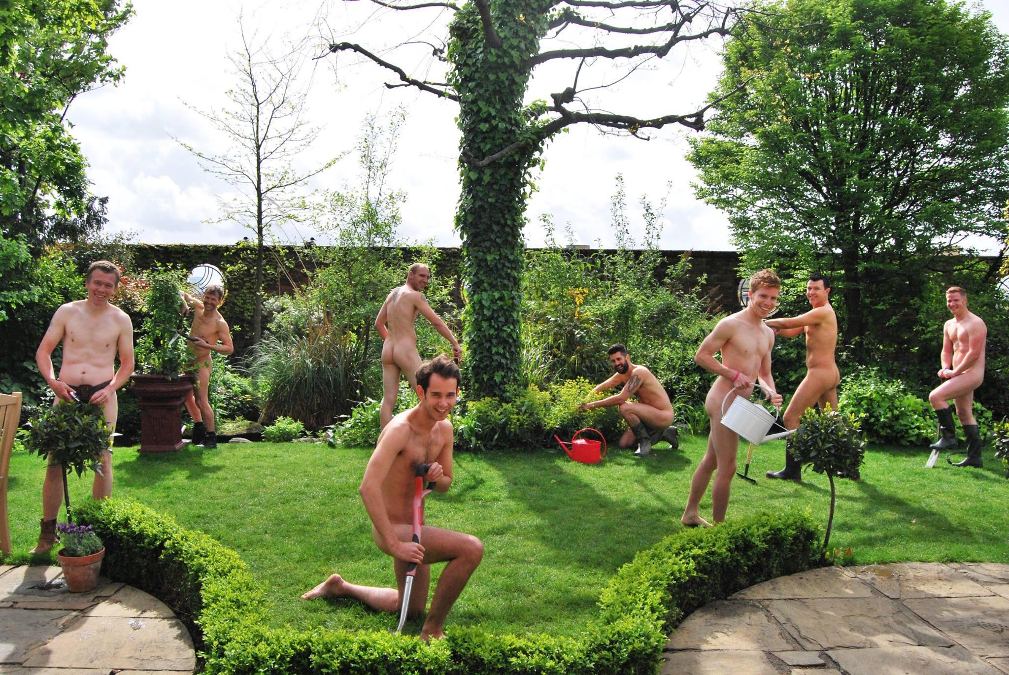 Nude in the garden
