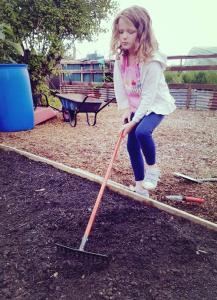 5 Benefits of Allotments: Having a little helper is handy!