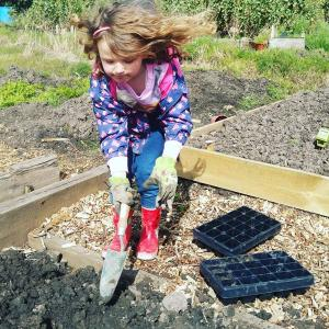 5 Benefits of Allotments: Gardening with daughter Ava