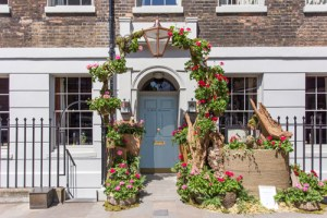 Geraniums at the Door - Zetter House Clerkenwell