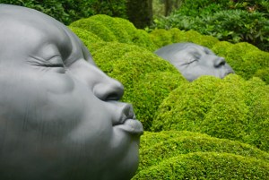 Faces in The Emotions Garden, Les Jardins d'Etretat, Normandy