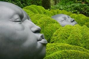 Faces in The Emotions Garden, Les Jardins d'Etretat, Normandy