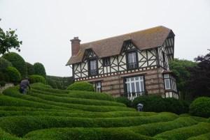 The villa at Les Jardins d'Etretat, Normandy