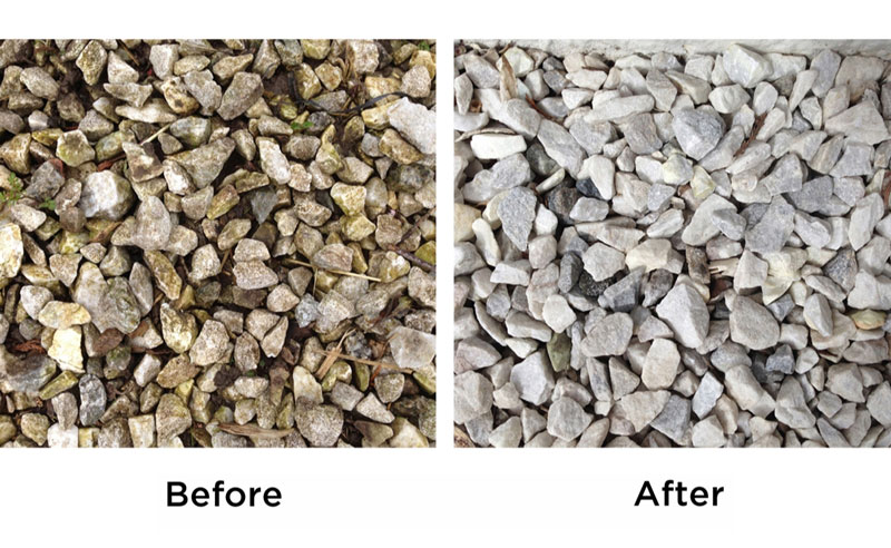 Wet & Forget Before and After: Gravel