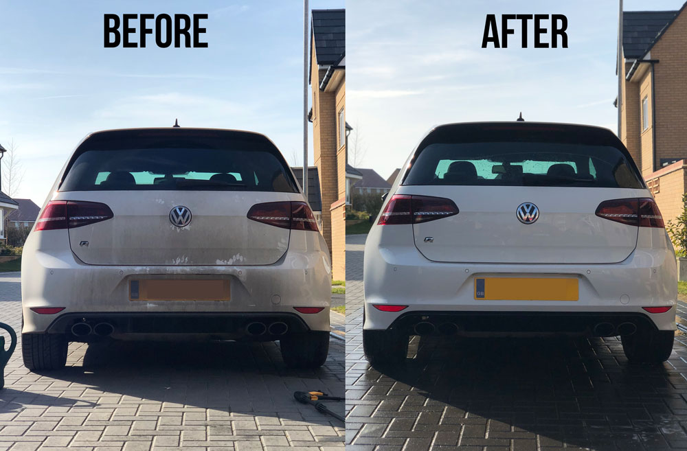 Wolf Blaster 4x4 pressure washer | Car before & after
