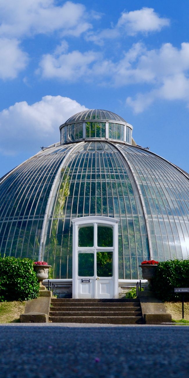 Kew Gardens glass greenhouse