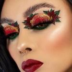 Poinsettia makeup