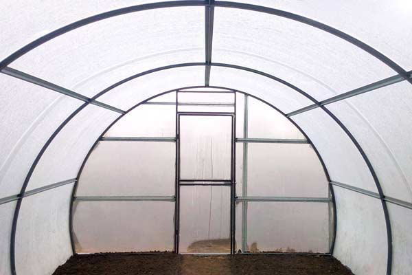 Steel greenhouse