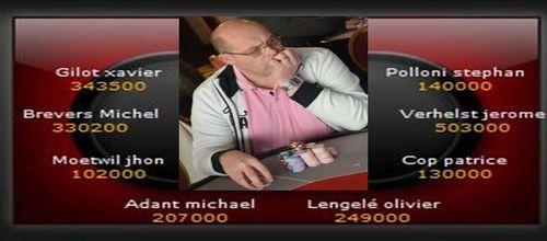 Partouche Poker Deepstack très belle 17ème place de Michel Brevers