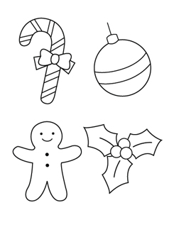 christmas ornament coloring pages printables christmas