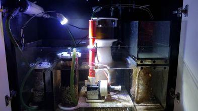 Laurent Marquet décante avec 2 filtres fluidisés et un UV