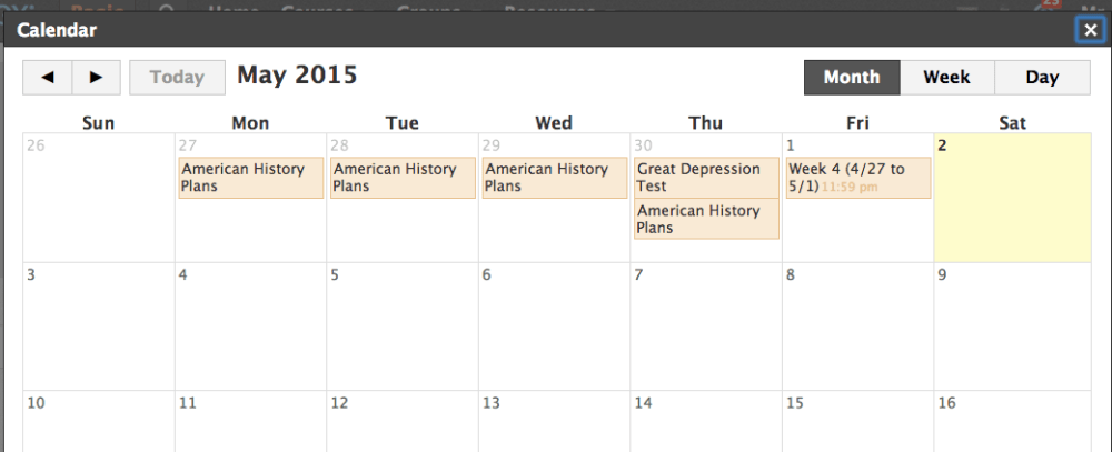 How To: Efficiency With Schoology's Calendar (1/3)