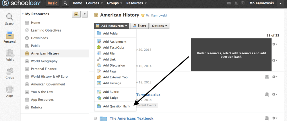 How To:  Use Schoology So Students Become Masters (4/6)