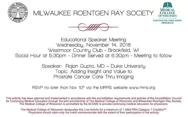 MRRS Educational Speaker Meeting November 2018
