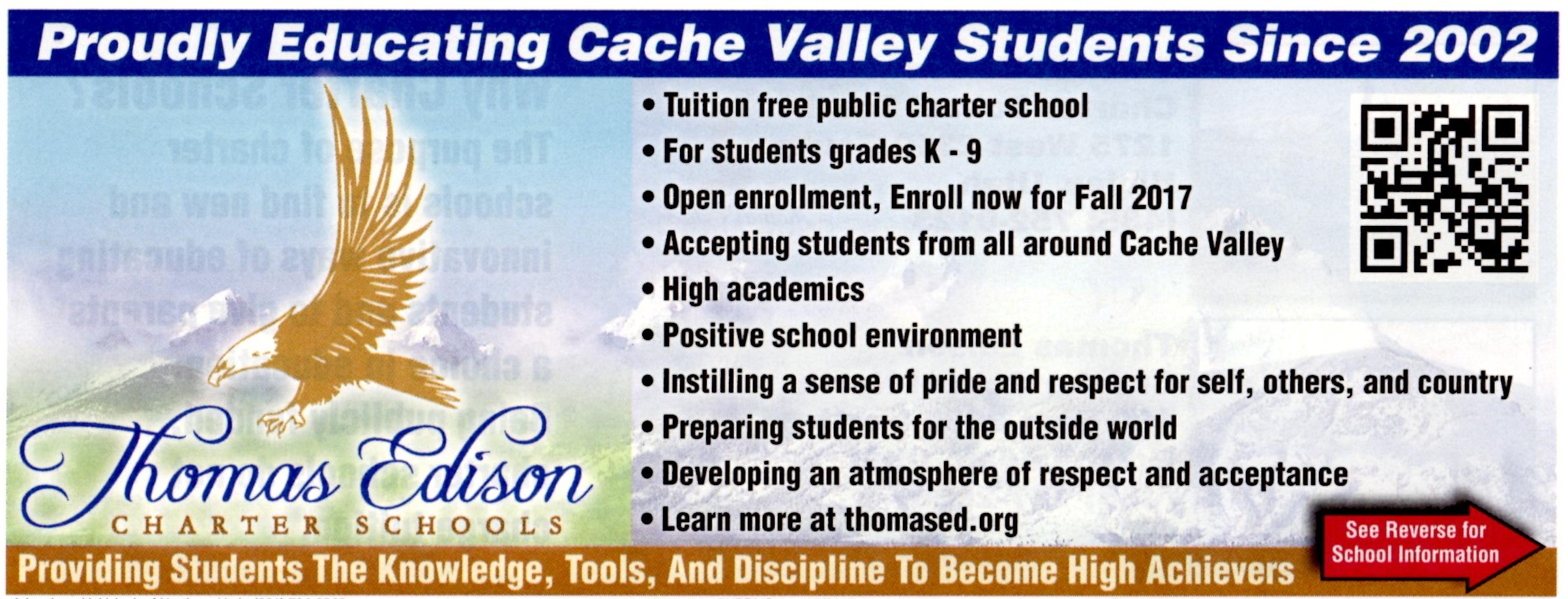 Open Enrollment Thomas Edison Charter School