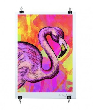 right-flamingo-on-clips-clear-cut-422x500
