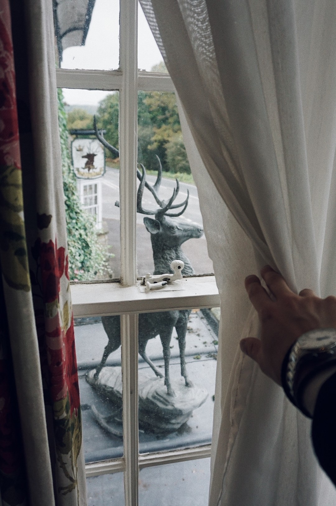 Reindeer statue. Master 4 Poster Suite at The Speech House Hotel. Forest of Dean. Blog by Skirmantas Petraitis.