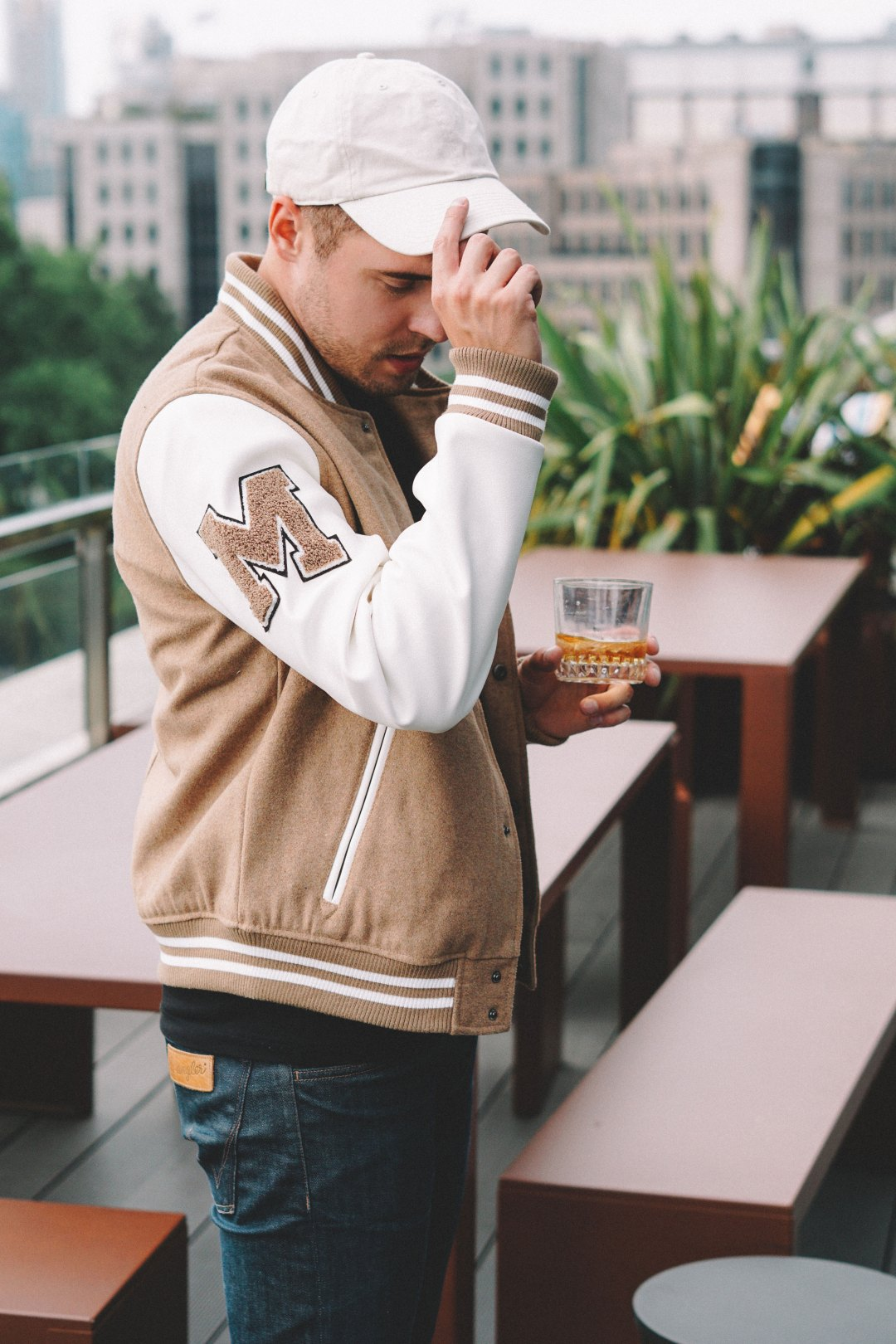 Members Only MO Varsity Jacket (Camel) Men's Coat. Blog by Skirmantas Petraitis.