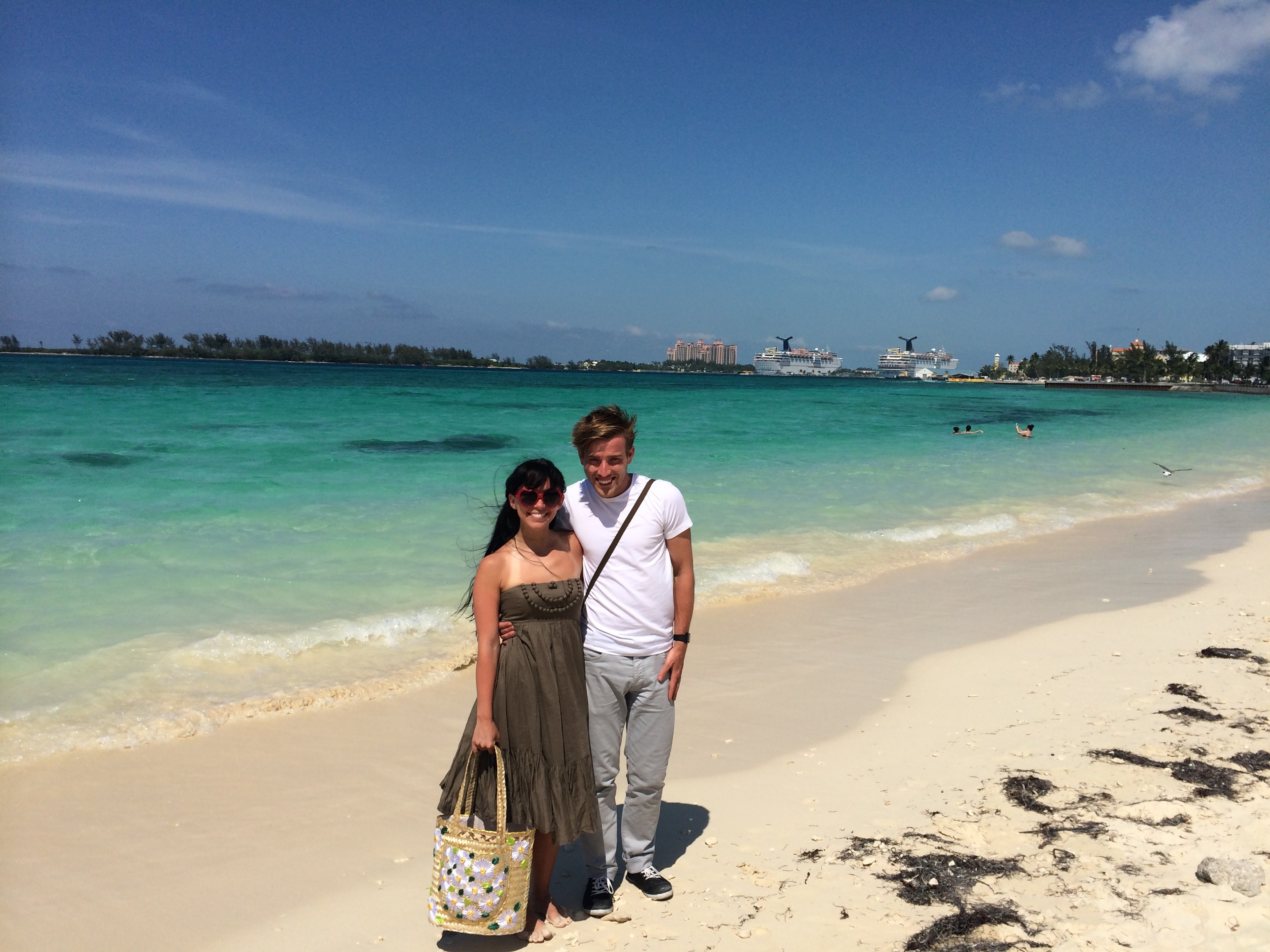 Stephen and Amber in Nassau | Mrs Amber Apple blog