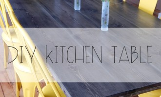 #DIY Kitchen Table | Red Autumn blog