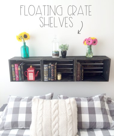 Floating Crate Shelves