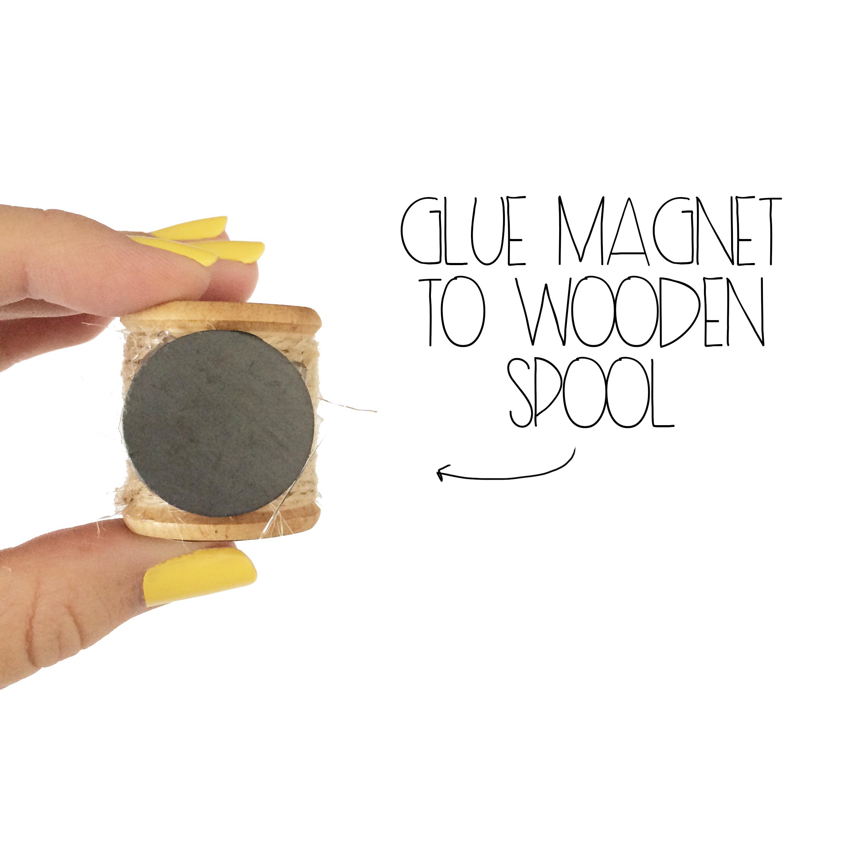 Glue Magnet To Wooden Spool   MrsAmberAppleBlog