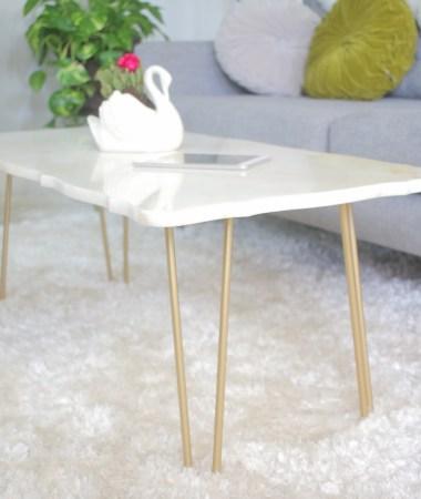 DIY: Marble Coffee Table